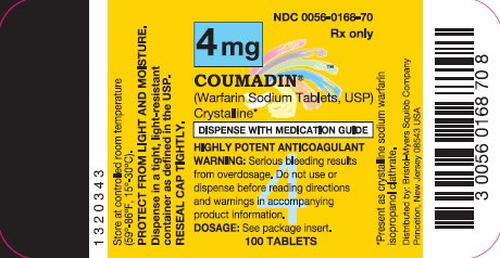 COUMADIN 4 mg 100 Tablets