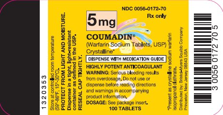 COUMADIN 5 mg 100 Tablets