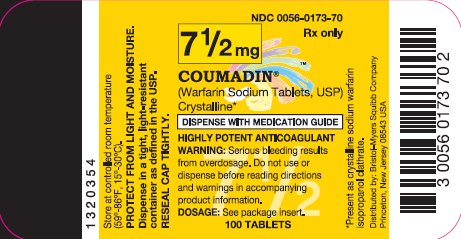 COUMADIN 7.5 mg 100 Tablets