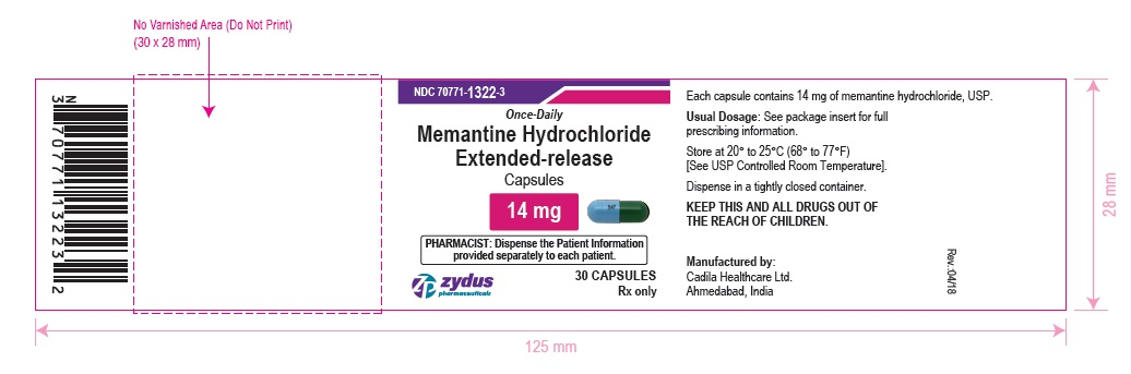 Memantine Hydrochloride Extended-Release Capsules, 14 mg