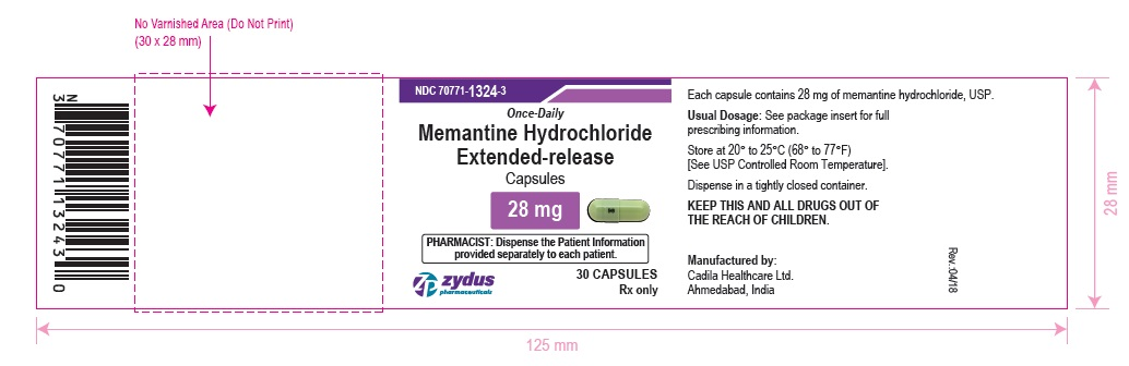 Memantine Hydrochloride Extended-release Capsules, 28 mg
