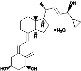 Structural formula for calcipotriene monohydrate