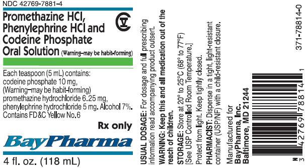 Promethazine Hcl, Phenylephrine Hcl And Codeine Phosphate Breastfeeding