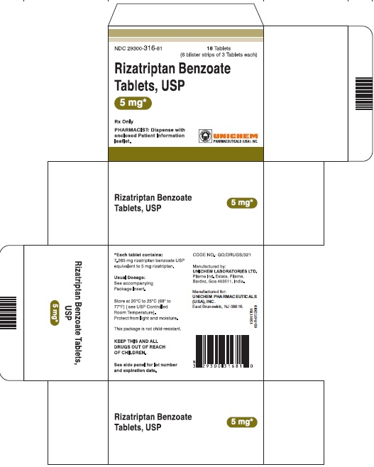 Carton - Rizatriptan Benzoate Tablets 5 mg