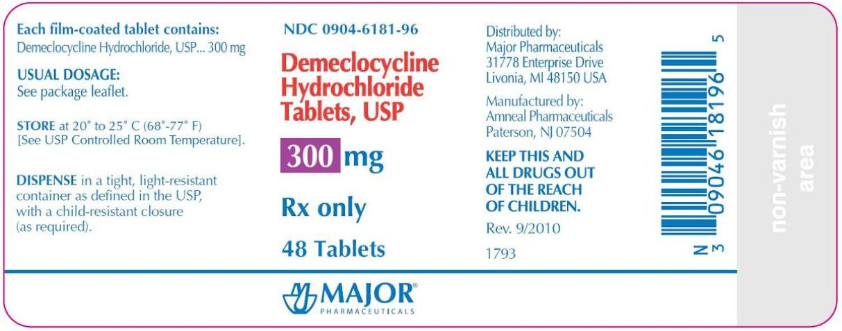 Demeclocycline Hcl 300 mg Tabs