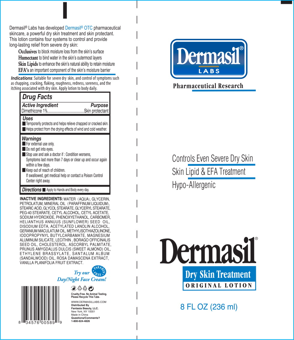 Principal Display Panel - Dermasil Original 8 Tube Label