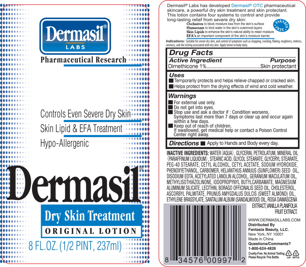 Principal Display Panel - Dermasil Original 8 Bottle Label