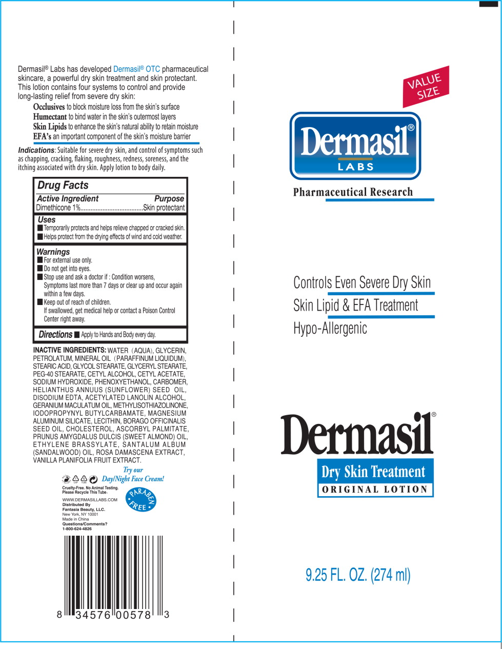 Principal Display Panel - Dermasil Dry Skin 9.25 Tube Label