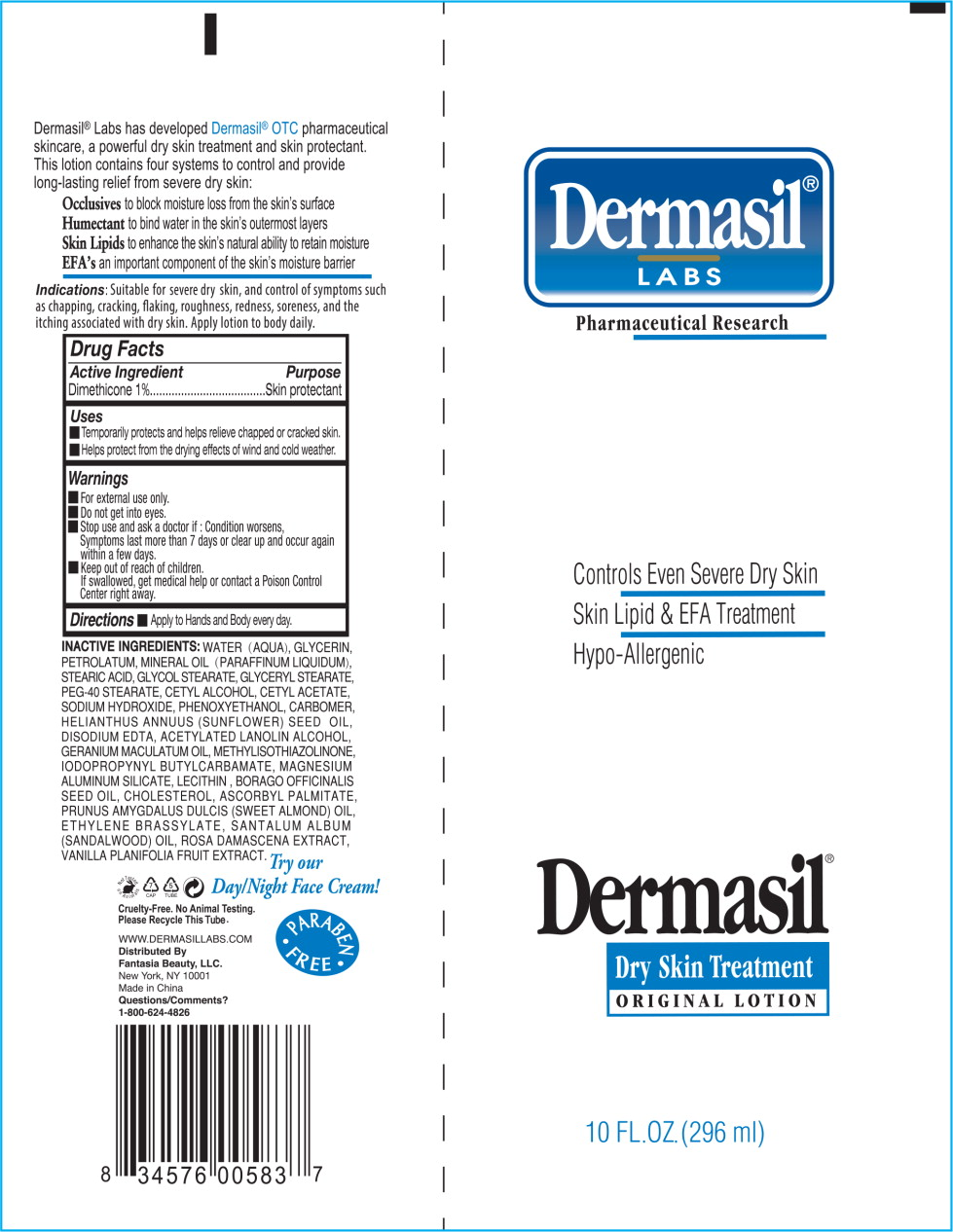 Principal Display Panel - Dermasil Dryskin 10 Tube Label