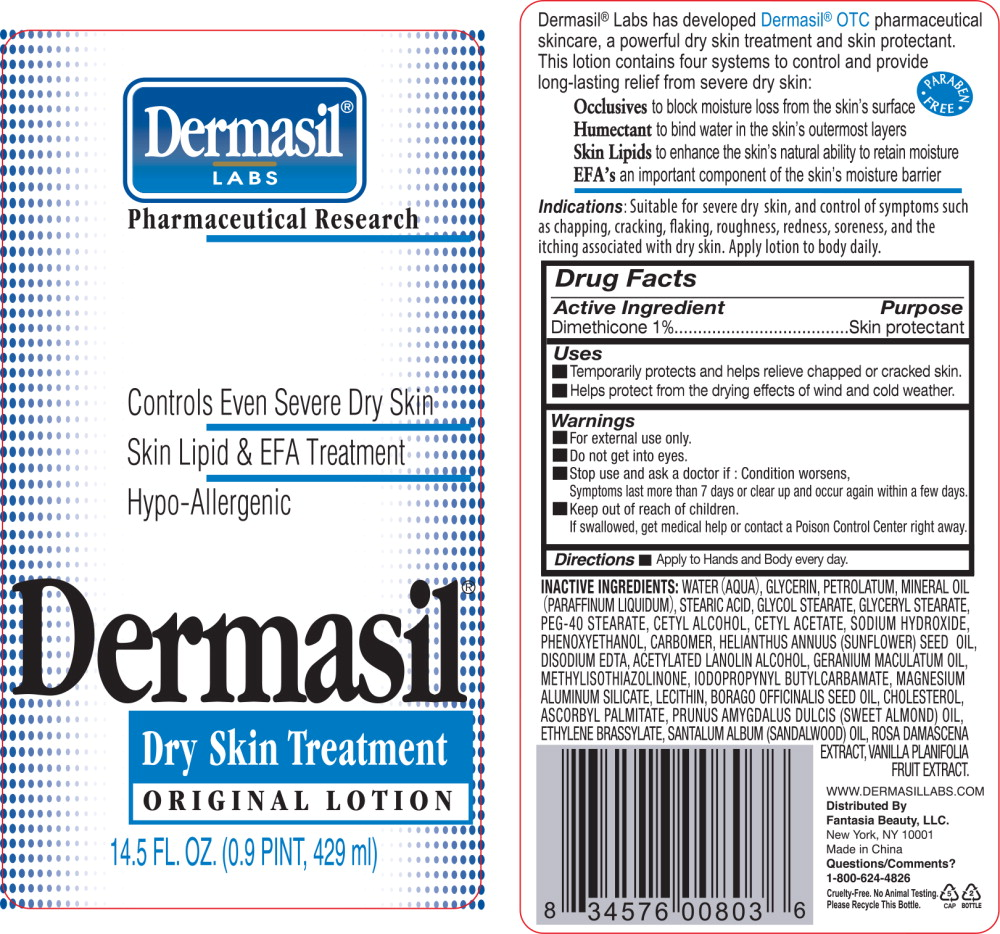 Principal Display Panel - Dermasil Dryskin 14.5 Bottle Label