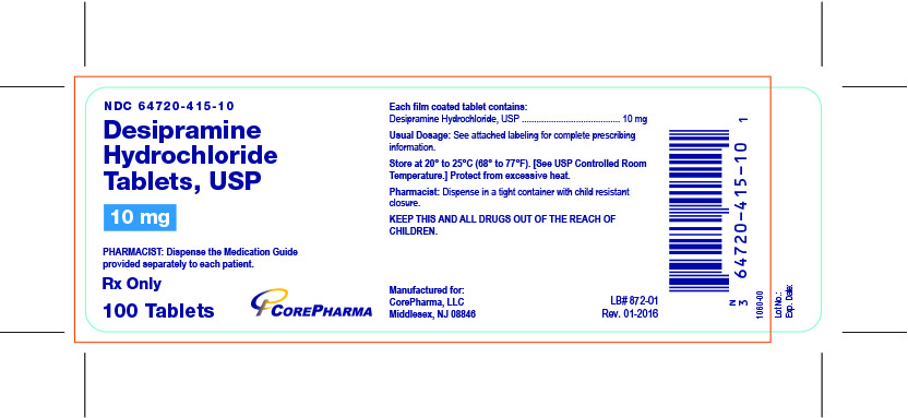 Container Label - 10 mg - NDC 64720-415-10