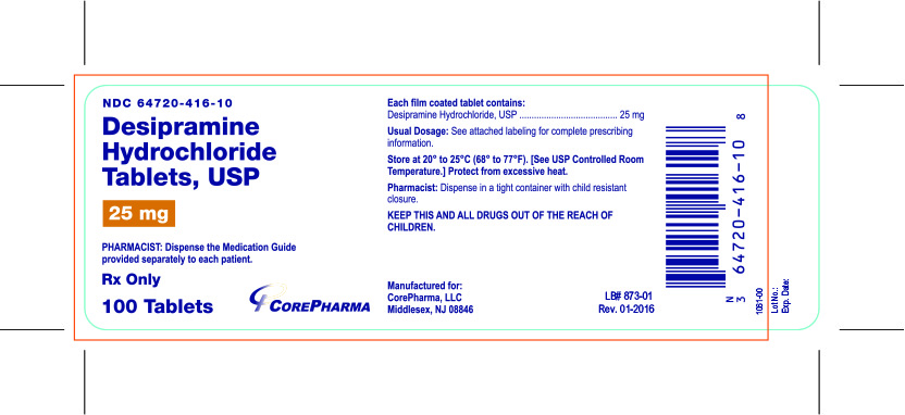 Container Label - 25 mg - NDC 64720-416-10
