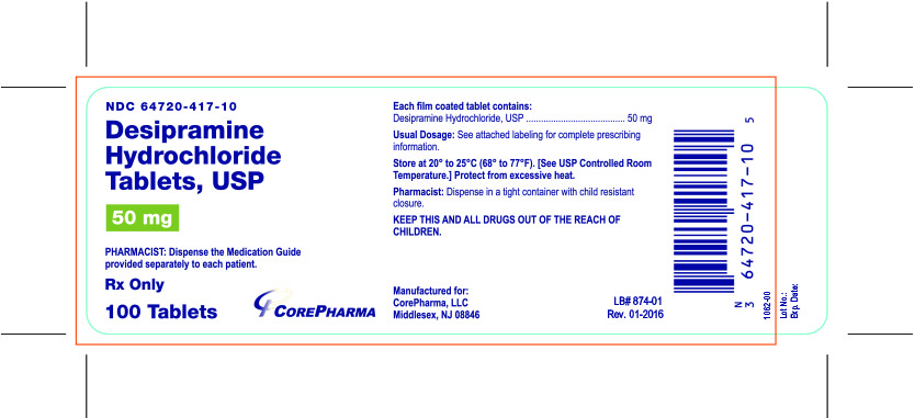Container Label - 50 mg - NDC 64720-417-10
