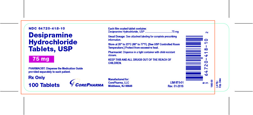 Container Label - 75 mg - NDC 64720-418-10