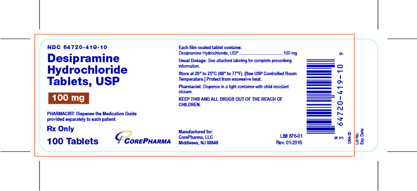 Container Label - 100 mg - NDC 64720-419-10