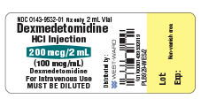 Vial label for Dexmedetomidine HCl Injection