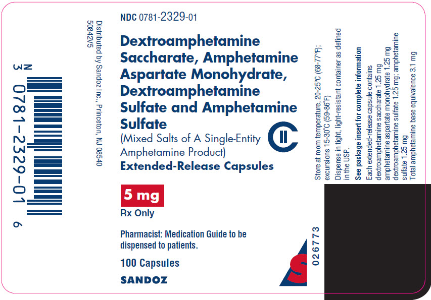 PRINCIPAL DISPLAY PANEL - 5 mg Capsule Bottle Label