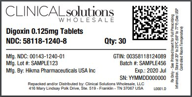 Digoxin 0.125mg tablet 30 count blister card