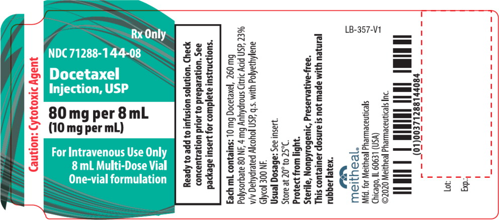 Principal Display Panel – Docetaxel Injection, USP 8 mL Vial Label