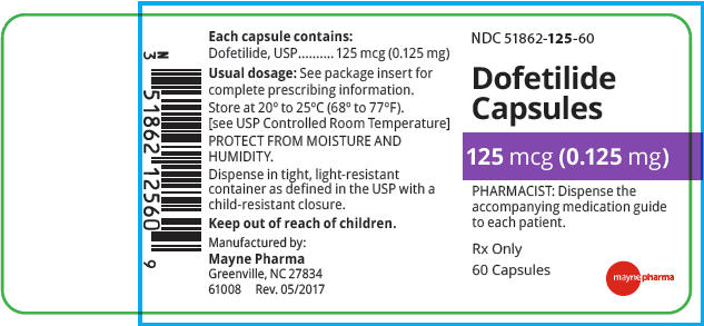 PRINCIPAL DISPLAY PANEL - 0.125 mg Capsule Bottle Label