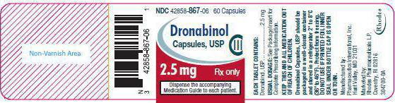 PRINCIPAL DISPLAY PANEL - 2.5 mg Capsule Bottle Label