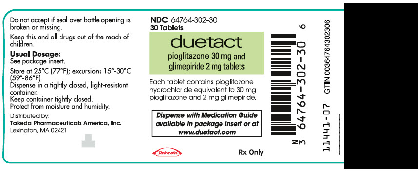 PRINCIPAL DISPLAY PANEL - 30 mg/2 mg Tablet Bottle Label