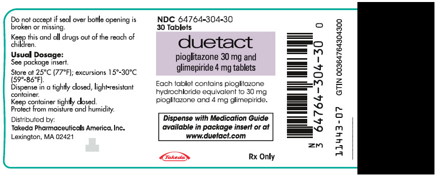 PRINCIPAL DISPLAY PANEL - 30 mg/4 mg Tablet Bottle Label