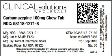 Carbamazepine 100mg chewable tablet 30 count blister card