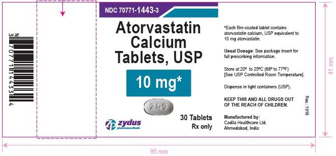 Atorvastatin Calcium Tablets, 10 mg