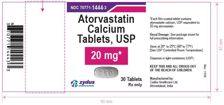 Atorvastatin Calcium Tablets, 20 mg