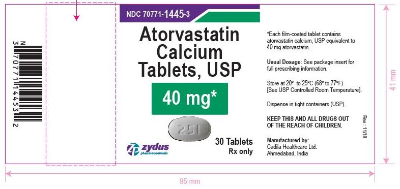Atorvastatin Calcium Tablets, 40 mg