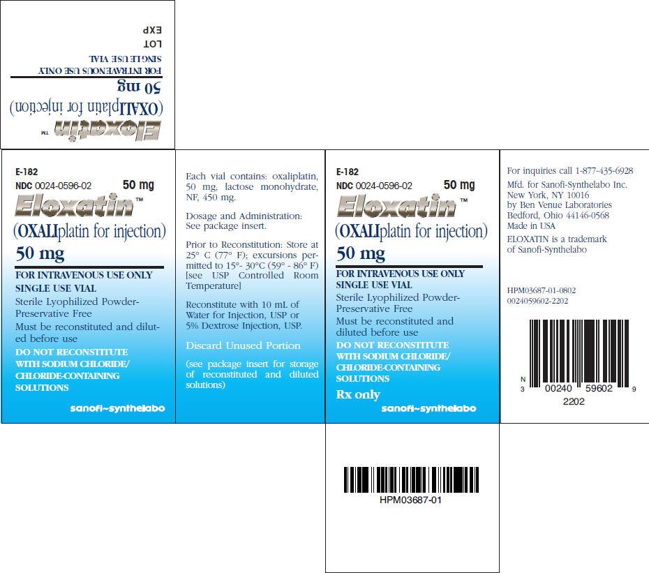 Eloxatin | Oxaliplatin Powder, For Solution Breastfeeding