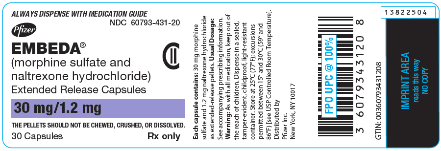 PRINCIPAL DISPLAY PANEL - 30 Capsule Bottle Label - 431