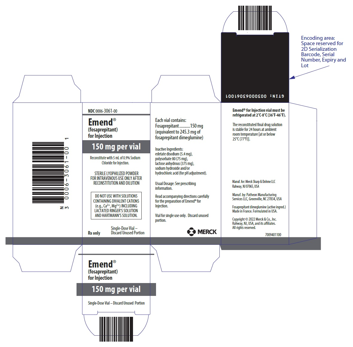 PRINCIPAL DISPLAY PANEL - 150 mg Vial Carton
