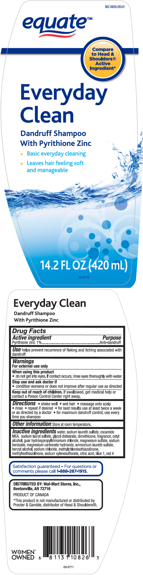 Equate Everyday Clean Dandruff Anti-dandruff | Pyrithione Zinc 10 Mg In 1 Ml while Breastfeeding