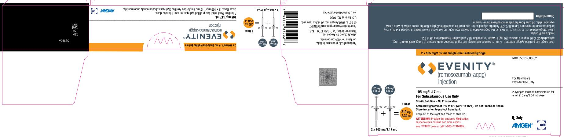 Rx Item-EVENITY- romosozumab-aqqg injection, solution 210MG/2.34ML BY AMGEN