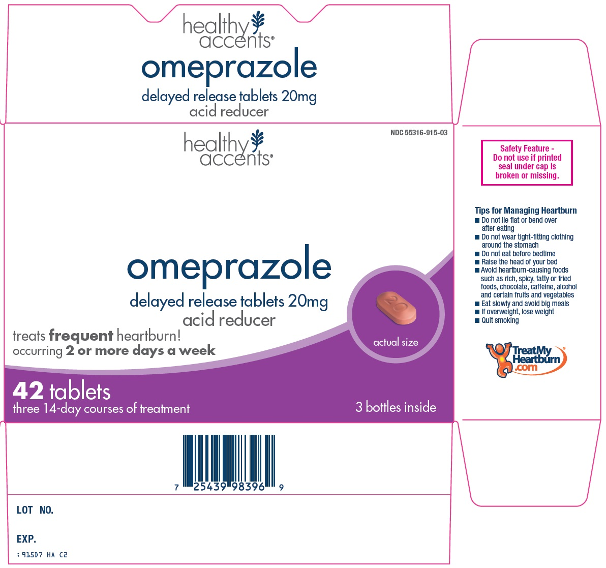 Healthy Accents Omeprazole Image 1