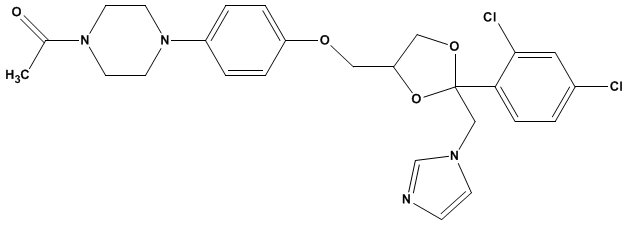 ketoconazole chemical structure