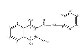 Structural formula for piroxicam