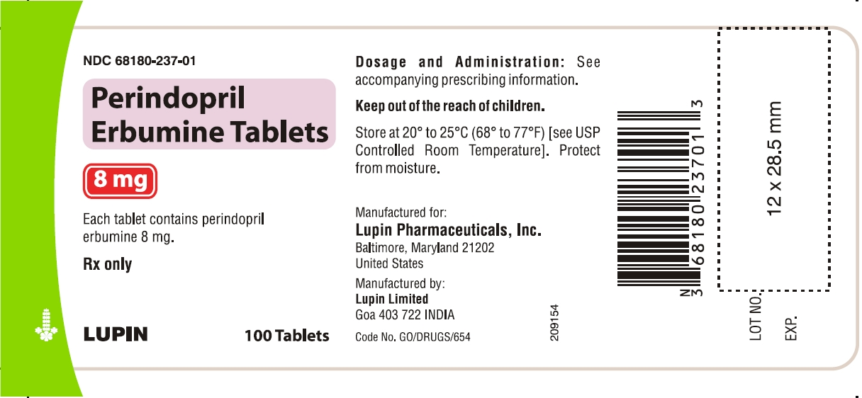 Perindopril Erbumine Tablets, 8 mg.