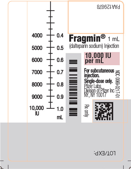 PRINCIPAL DISPLAY PANEL - 1 mL Syringe Label