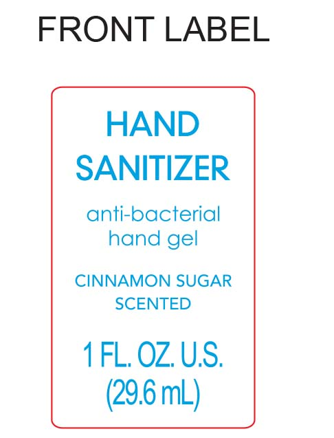 Cinnamon Sugar Scented Hand Sanitizer | Ethyl Alcohol Gel while Breastfeeding
