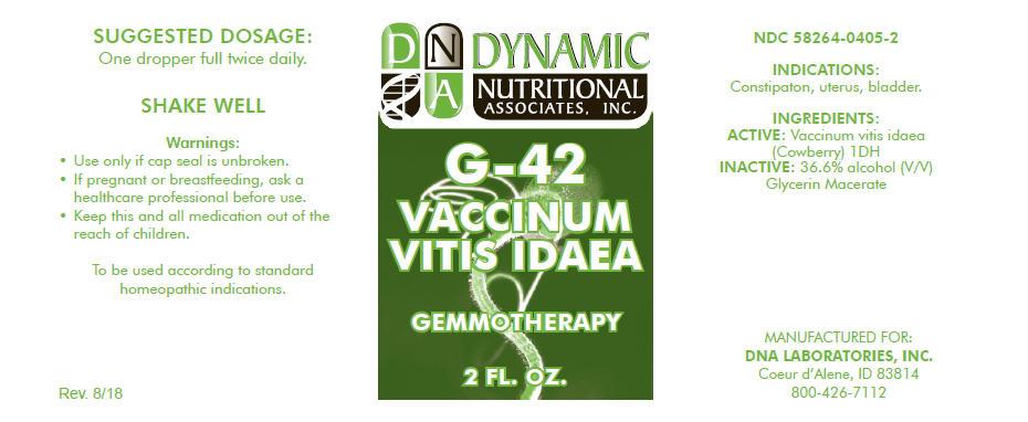 G-42   Vaccinium Vitis-idaea Leaf Solution Breastfeeding