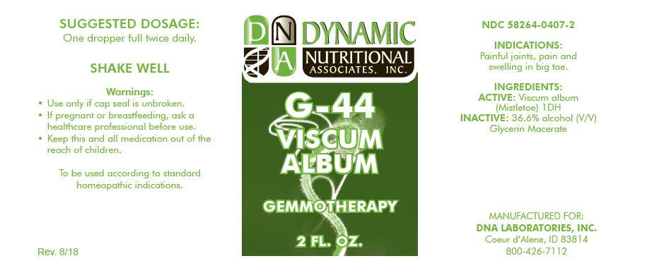 G-44   Viscum Album Stem Solution Breastfeeding