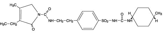 This the structural formula of Glimepiride.