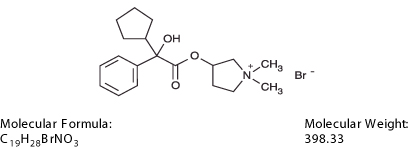 This image is the structural formula for Glycopyrrolate.