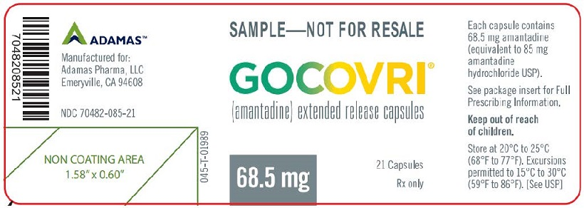 Rx Item-Gocovri- Amantadine Capsule, Coated Pellets 137Mg 60 Capsules By Adamis