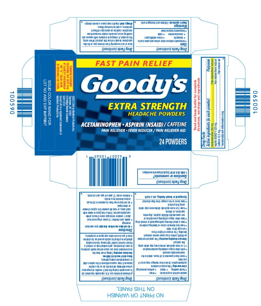 FAST PAIN RELIEF Goody's® EXTRA STRENGTH HEADACHE POWDERS ACETAMINOPHEN • ASPIRIN (NSAID) / CAFFEINE PAIN RELIEVER / PAIN RELIEVER AID 24 Powders