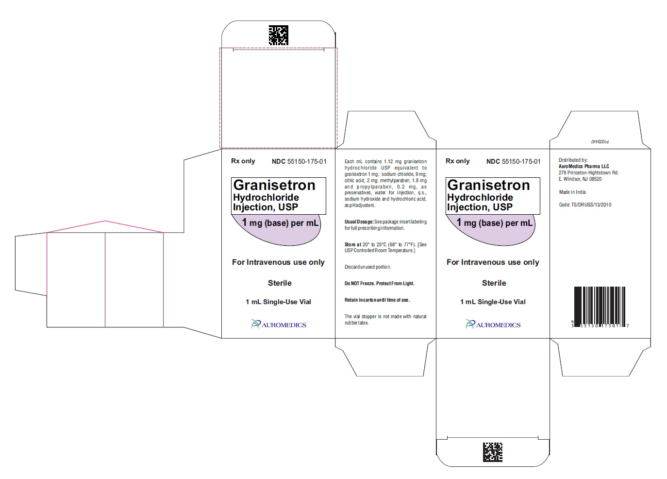 PACKAGE LABEL-PRINCIPAL DISPLAY PANEL - 1 mg (base) per mL - Container-Carton [1 Vial]