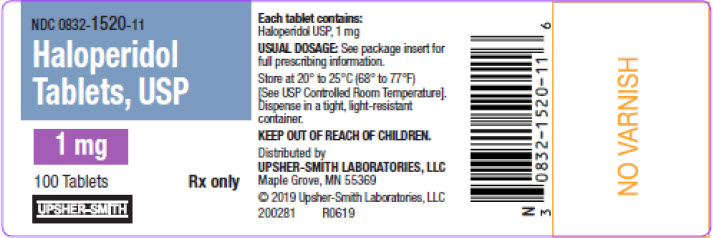PRINCIPAL DISPLAY PANEL - 1 mg Tablet Bottle Label